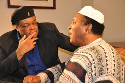 Producer Director Frazier Prince on set with Rahaman Ali brother of Muhammad Ali for new Muhammad Al