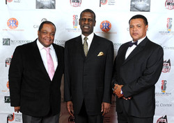 Frazier with Michael Spinks and Morgan