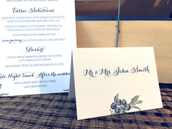 Blueberry Placecards