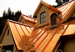 Copper Standing Seam Roof