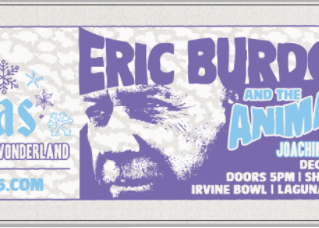 December 2, 2017 7:00 PM  KXMas Eric Burdon & The Animals Sponsored by C'est la Vie Restaura