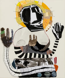 Meditator, 2019, Needlework on fabric, 50x60 cm