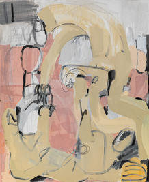 Playground III, 2021, mixed media on canvas, 110x90 cm