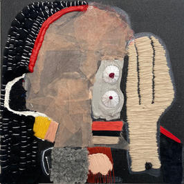 Untitled, 2021, mixed media on canvas, 30x30 cm