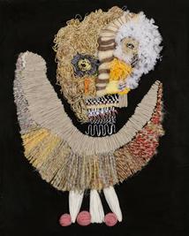 Tiny Dancer, 2019, Needlework on fabric, 50x40 cm