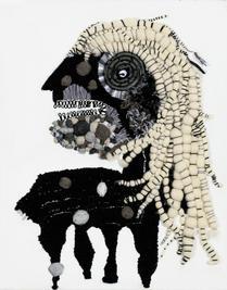 Centaur, 2019, Needlework on fabric, 50x40 cm