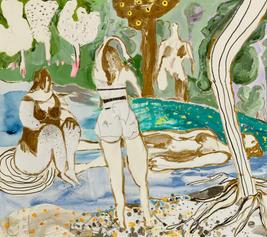 Bathers II, 2019, mixed media on canvas, 78x88cm