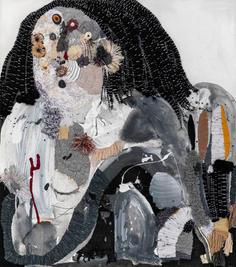 Figure IV , 2020, mixed media on canvas, 90x80 cm