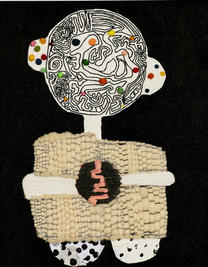 Beautiful mind,  2019, Needlework on fabric, 50x40 cm