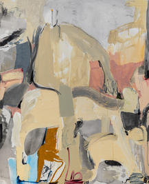 Playground II, mixed media on canvas, 110x90 cm, 2021