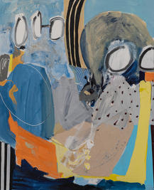 Diver, 2020, mixed media on canvas, 110x90 cm