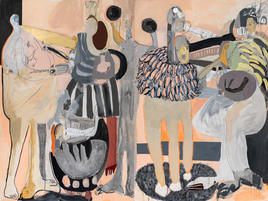 Parade, 2020, acrylic and oil on canvas, diptych 180x240 cm