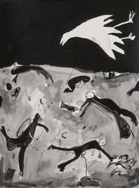 Aquarium I, 2020, Acrylic and graphite on paper, 48x36 cm