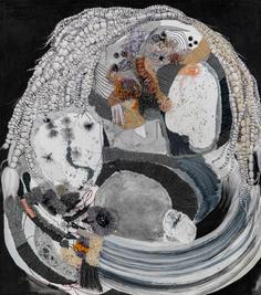 Figure II, 2020, mixed media on canvas, 90x80 cm