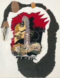 Basilisk, 2018, Needlework on fabric, 50x40 cm