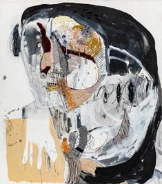 Figure I, 2020, mixed media on canvas, 90x80 cm