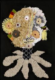 Untitled, 2019, Needlework on fabric, 25x35 cm