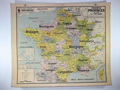 #09 - France - Provinces de 1789
