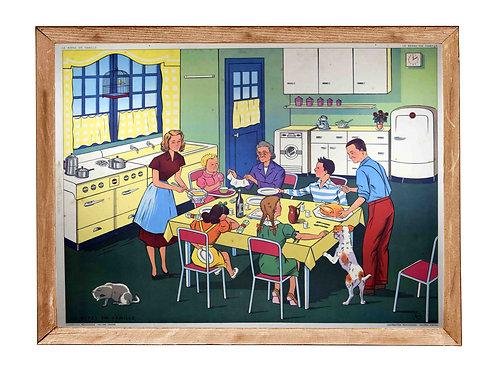 le repas en famille / la maladie