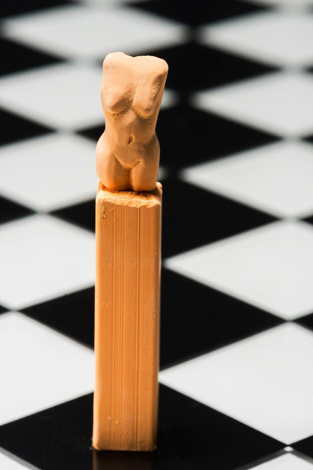 craie pastel sculptée