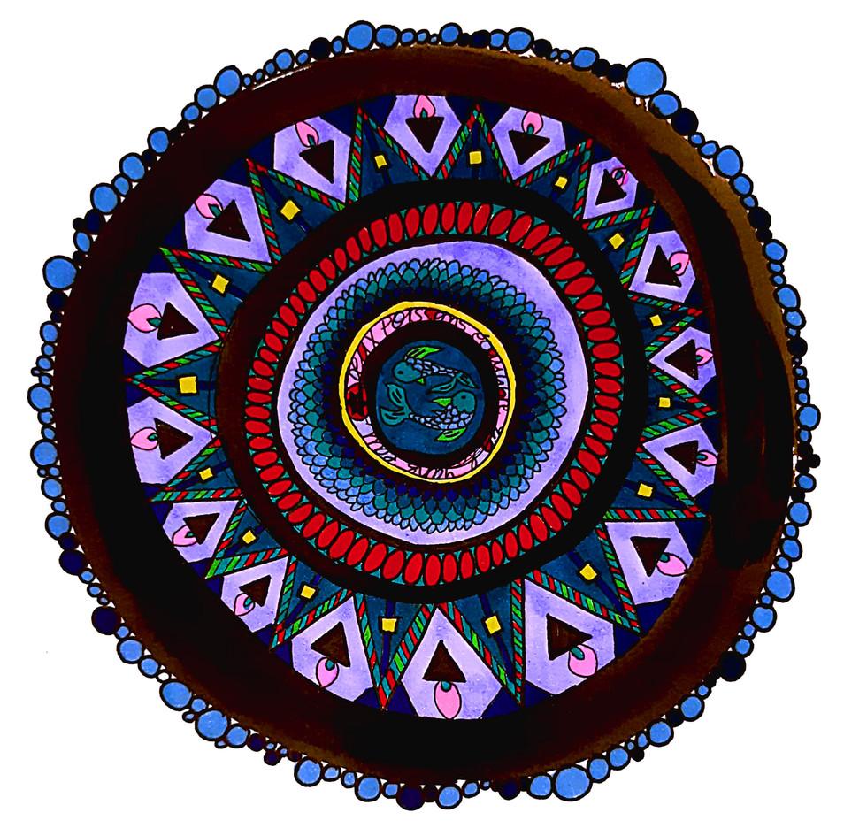 Talisman des poissons yin yang