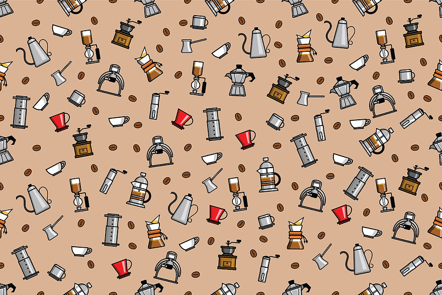 Seamless-Pattern-Of-Coffee-Brewer-by-sup