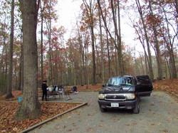Developed sites parking