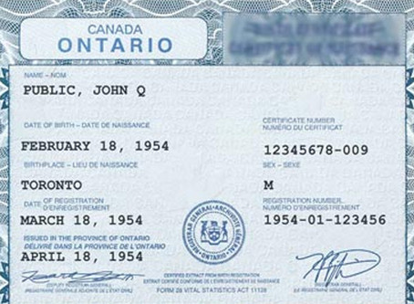 WHAT YOUR BIRTH CERTIFICATE SAYS ABOUT YOUR EXIT PLAN