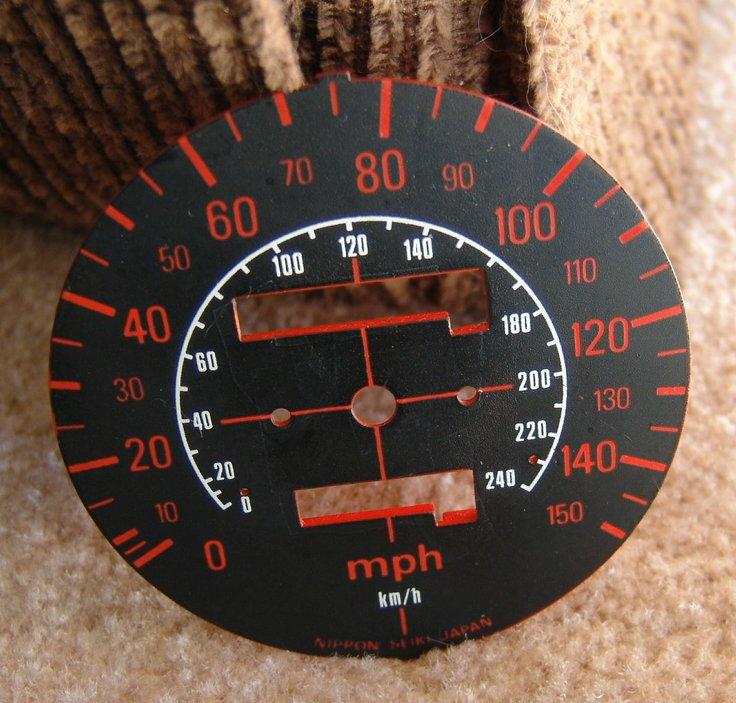 Restored 150 MPH CBX Speedometer Plate