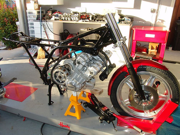 the cbx is a unique bike in just about every respect  it's six cylinder  engine is not your typical motorcycle engine which can sometimes be moved  around