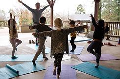 Lower School yoga outside