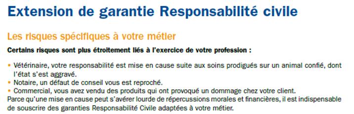 Extension de garantie responsabilité civile, les risques spécifiques à votre métier
