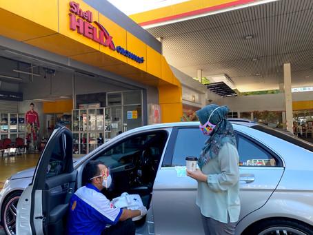 Shell Berikan Layanan Desinfeksi Mobil dan Bagikan 10.000 Masker di Hari Pelanggan Nasional
