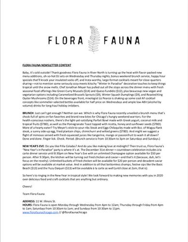 Flora Fauna Newsletter