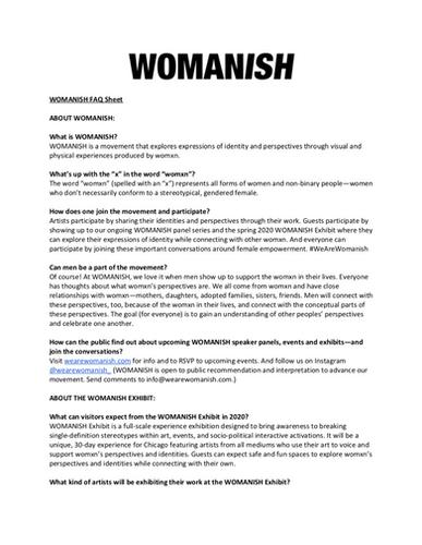 WOMANISH FAQ