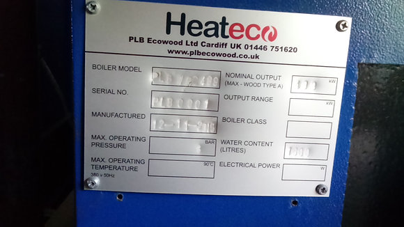 499 kw Heateco chip boiler