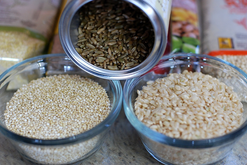 Eat whole grains instead of refined starches and sugars.