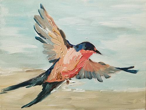 Swallow at the Shore