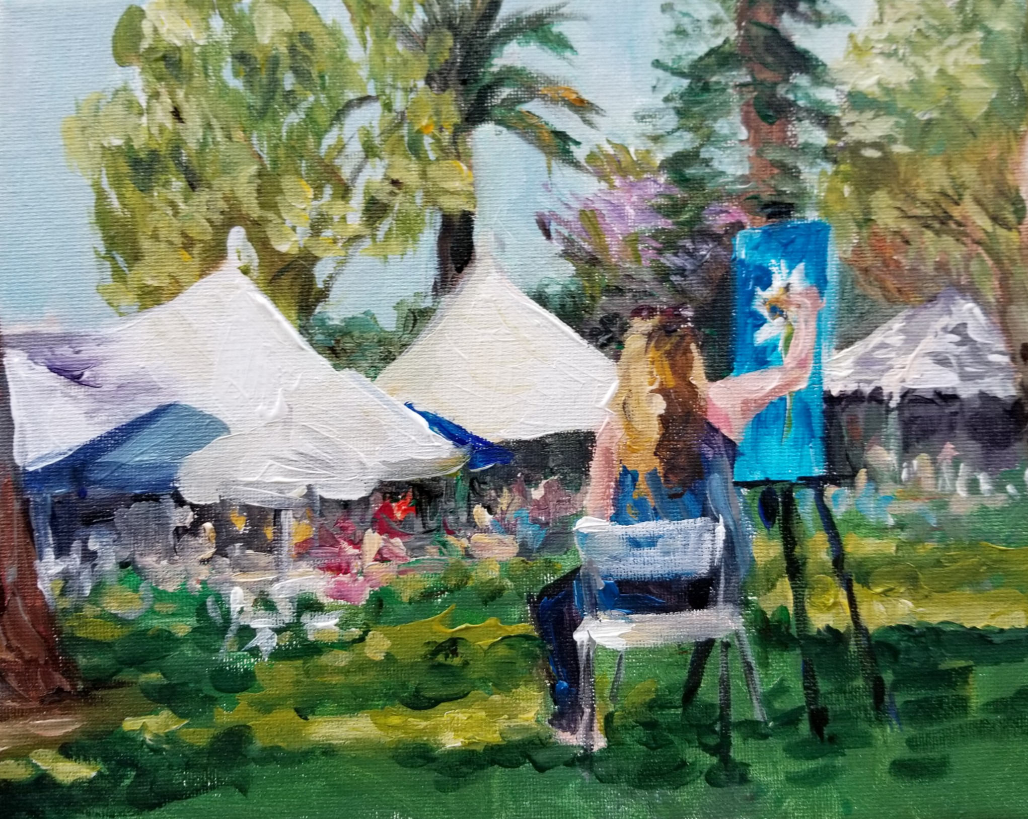 Painting Florals in the Park