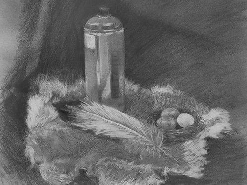Spray Paint & Rabbit Fur