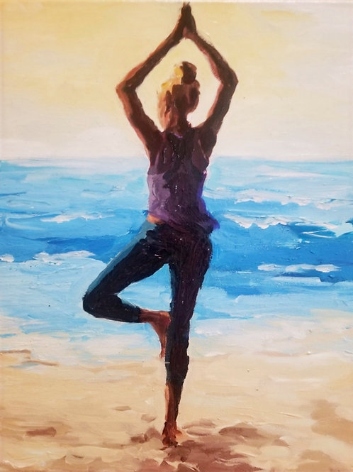 Yogini at the Beach