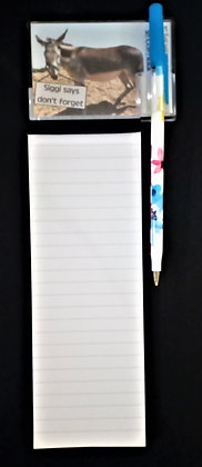 Fridge Magnet, Notepad & Pen