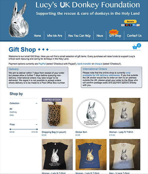 Lucy's UK Donkey Foundation Gift Shop