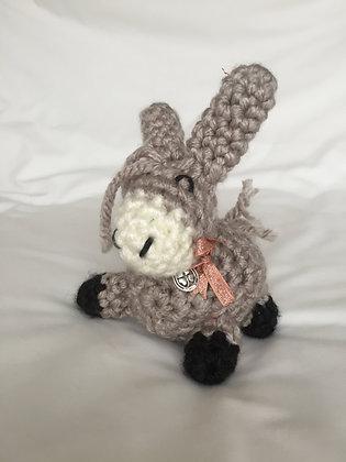 Crochet Donkey, 19cm