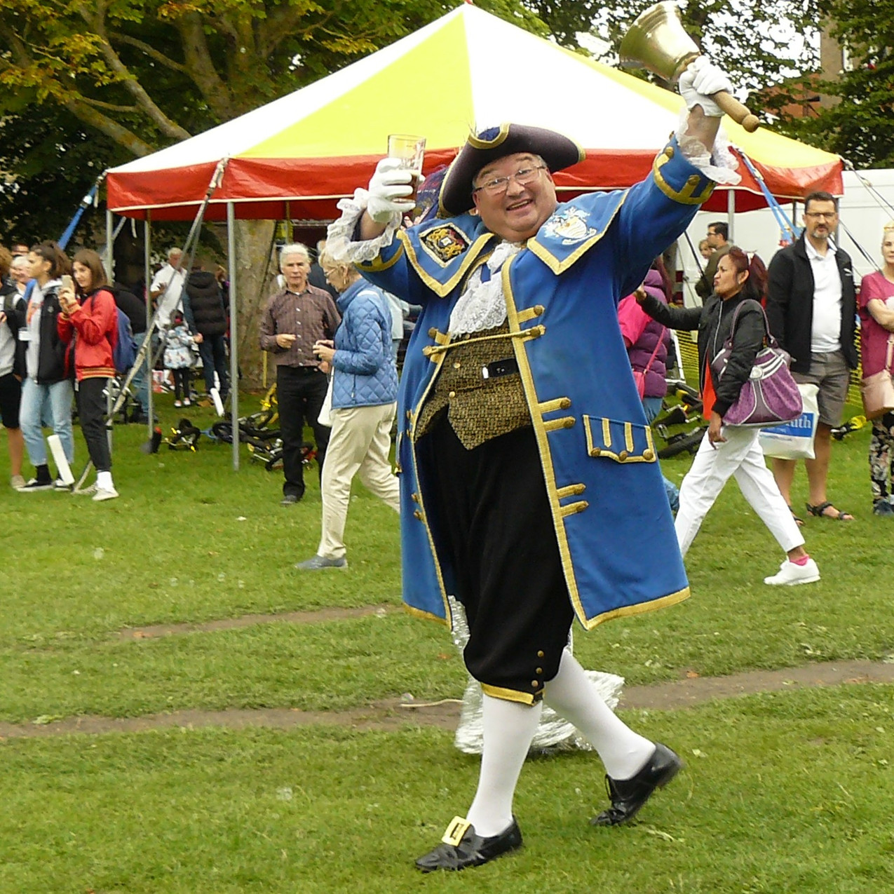 A visit from the Town Crier