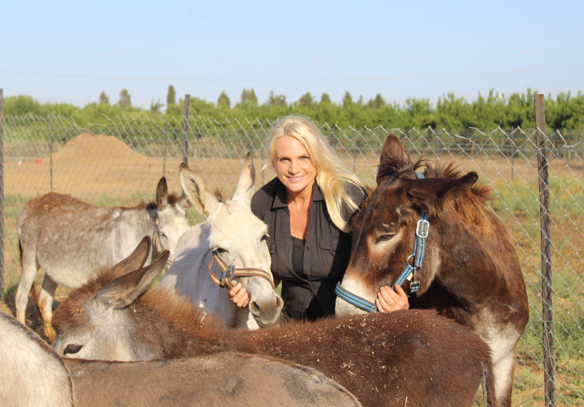 Photo of Lucy and her donks