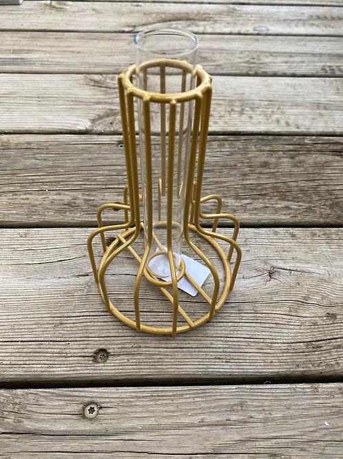 Vase métal OR
