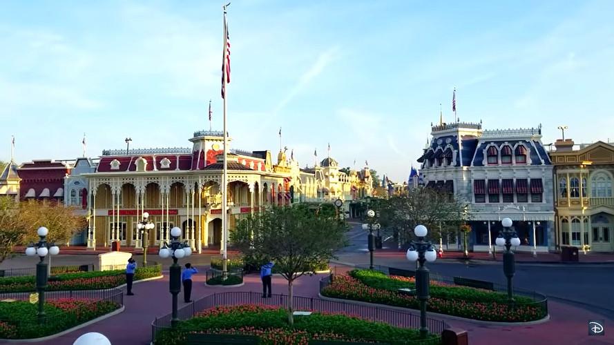 Walt Disney World Security Raises the Flag During Coronavirus