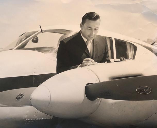 Roger Swanson at Fairfax Airport in Kansas City