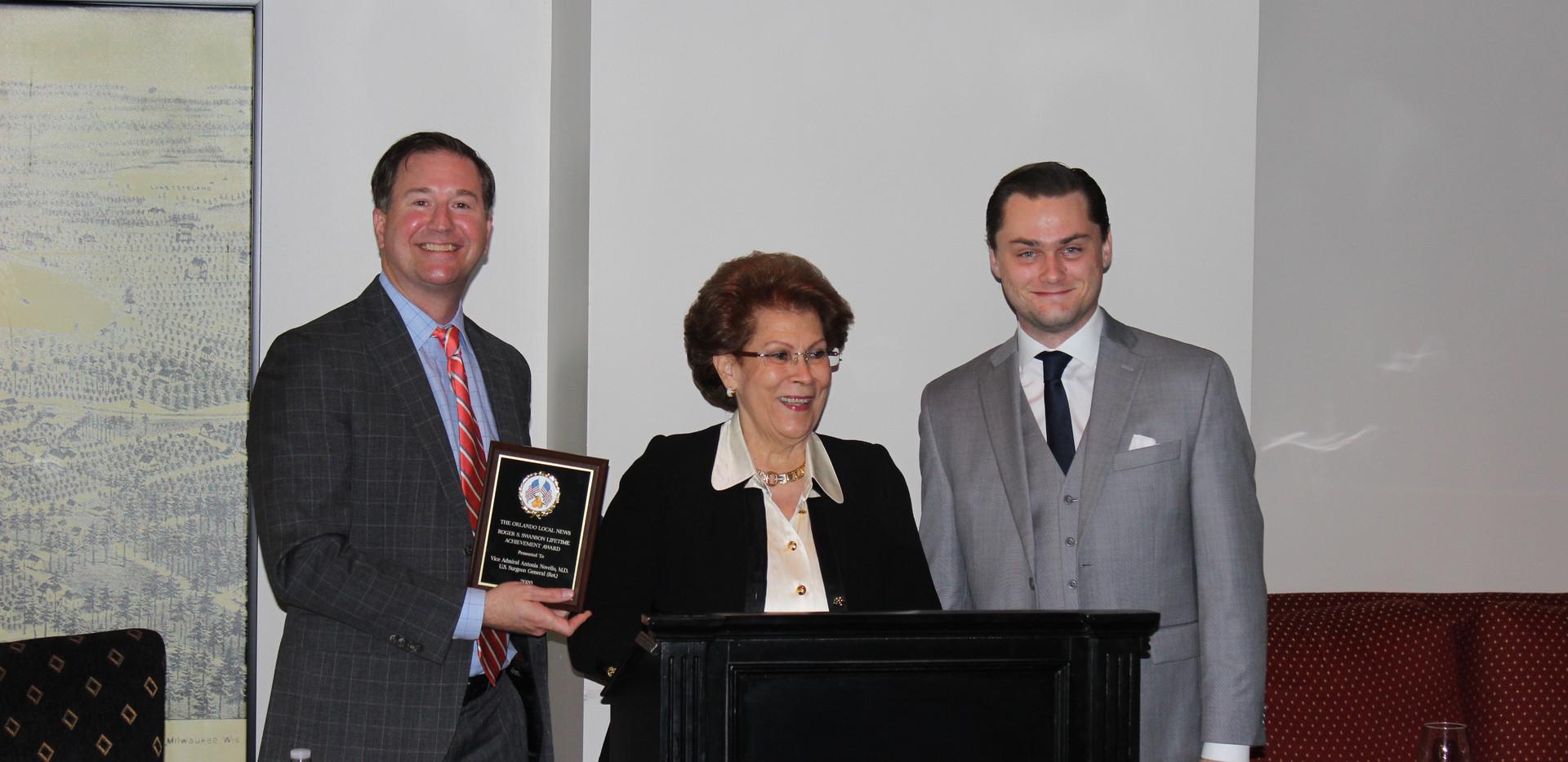 Francisco Gonzalez, Antonia Novello, Marshall Swanson